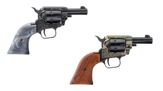 The single-action Heritage Barkeep chambers both .22 LR and .22 WMR.