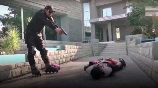 The Pakistani Skate Force, with officers in roller skates, is absurd.
