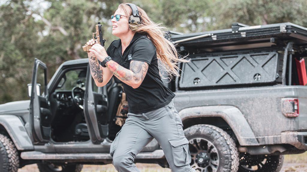 Marine veteran, MMA fighter, shooter and trainer, Kelsey De Santis is an American badass.