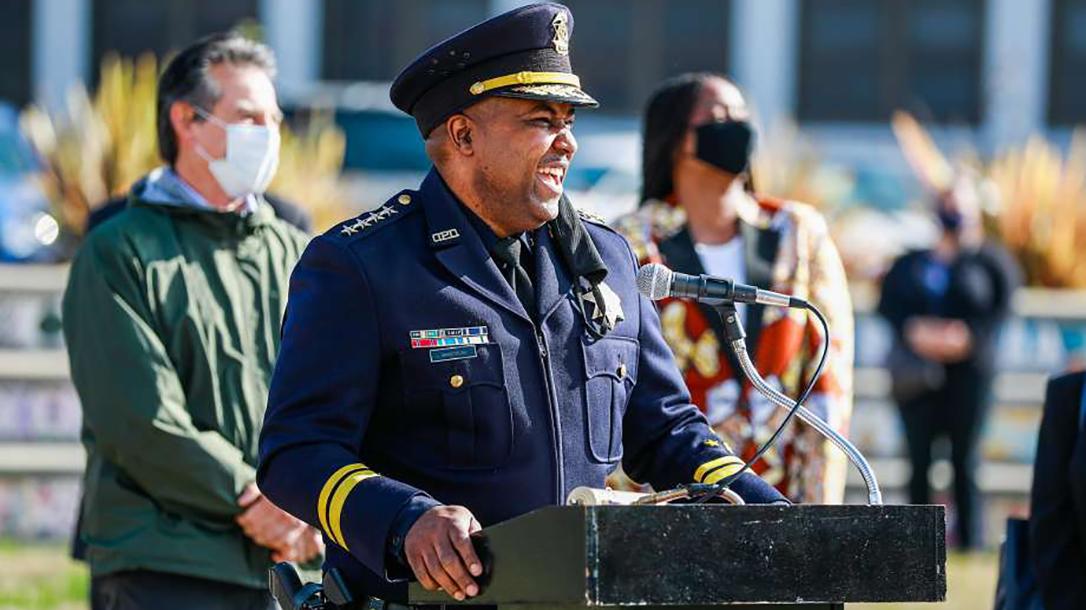 Oakland Police Chief LeRonne Armstrong, guns