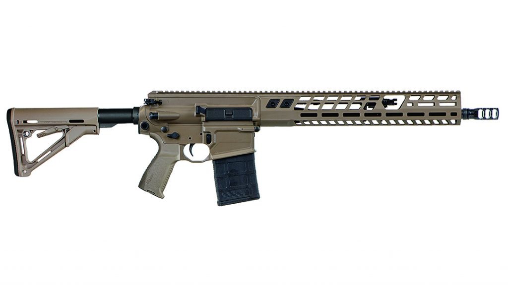 The SIG716G2 DMR has an opening in the forend rail to enable access to the gas valve.