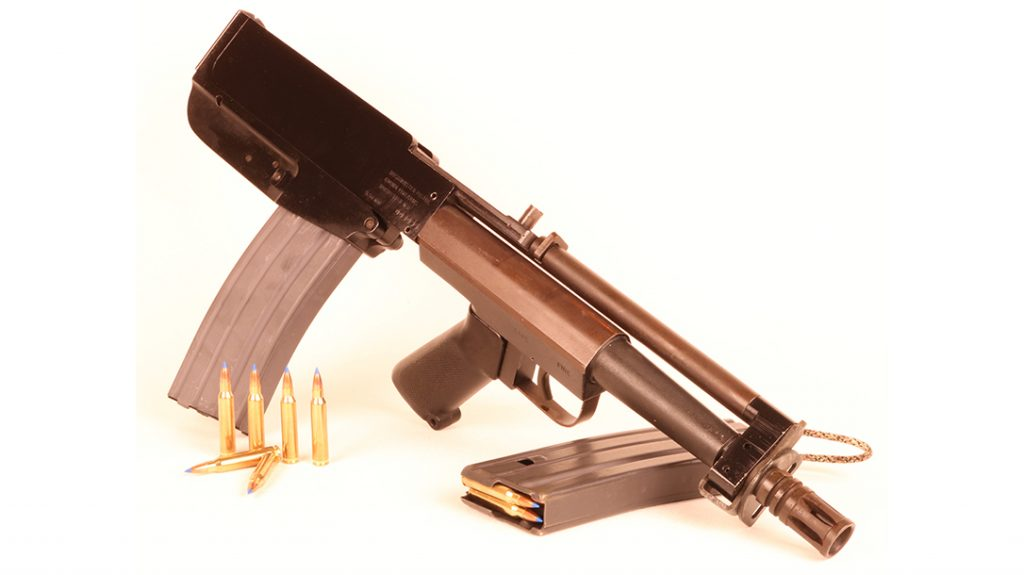 The lower receiver is not conceptually dissimilar to that of the M16. The hammer and disconnector are standard AR fare.