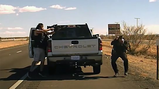 Convict Omar Cueva murdered New Mexico State Police officer Darian Jarrott in cold blood.