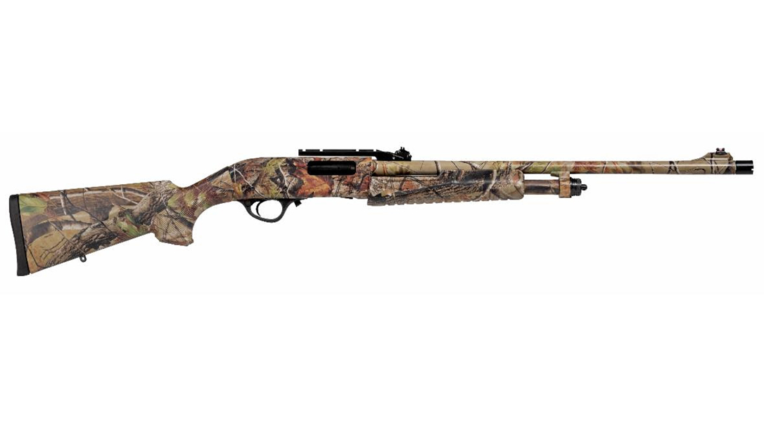 The Escort FieldHunter Turkey shotgun comes hunt ready.