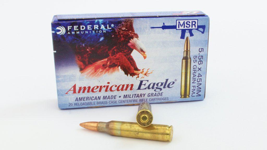 American Eagle 55-grain FMJ.