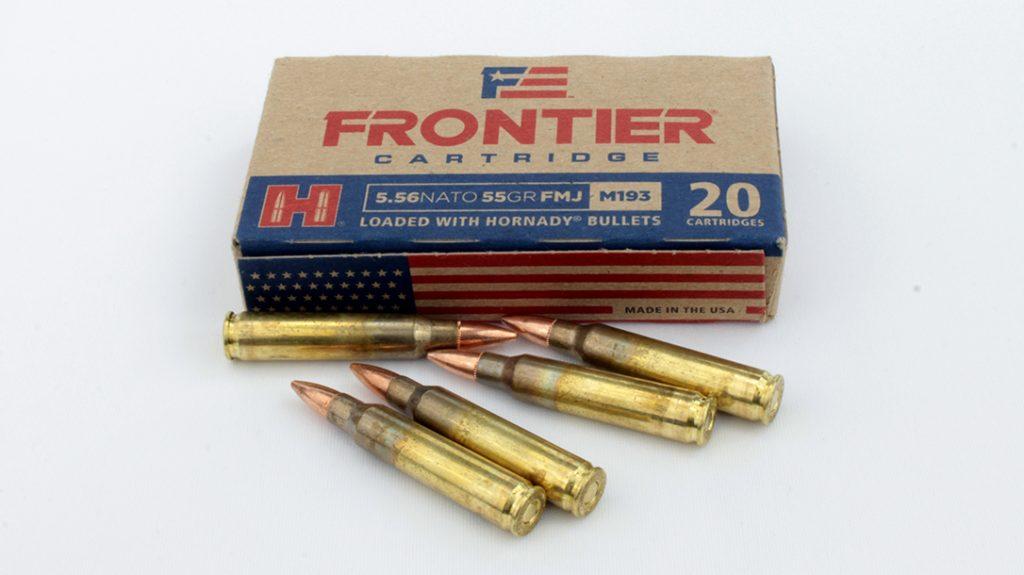 Hornady Frontier 55-grain FMJ.