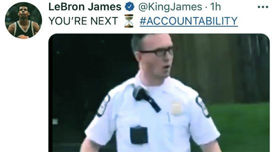 LeBron James made a social media post seemingly threatening a Columbus Police officer.