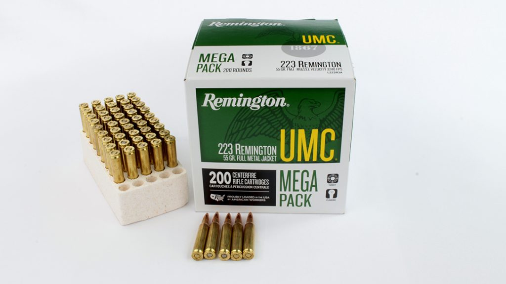 Remington UMC 55-grain FMJ.