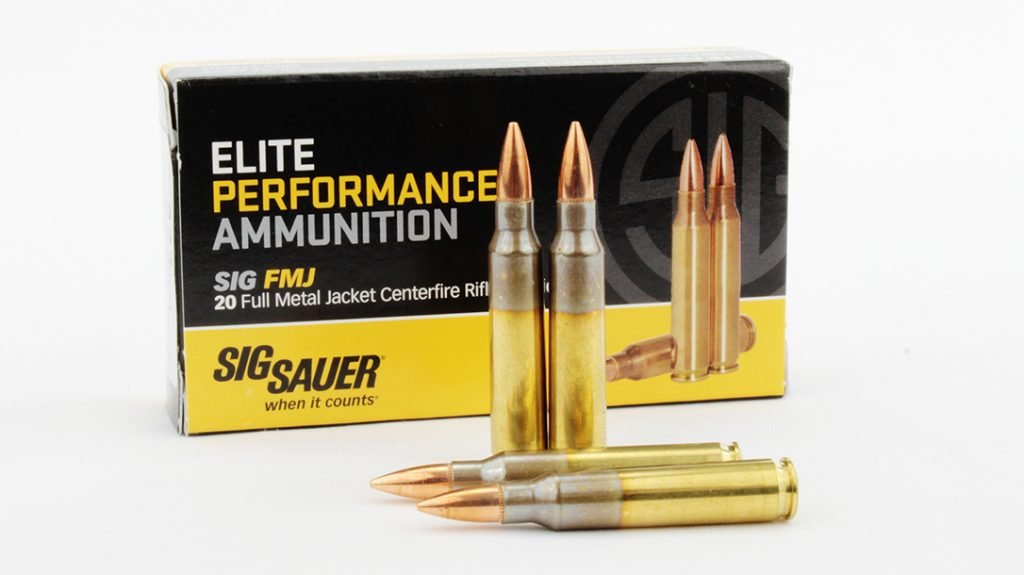 SIG Sauer 55-grain FMJ.