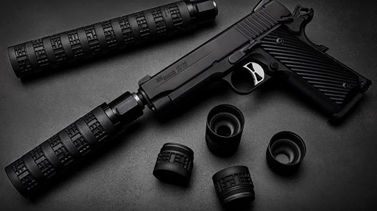 The adjustable SIG MODX-45 delivers lots of versatility in a suppressor.