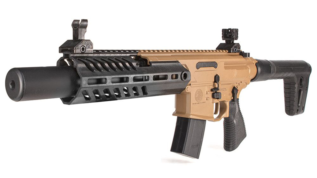 The SIG MCX Rattler Canebrake Pellet Rifle delivers realistic training.