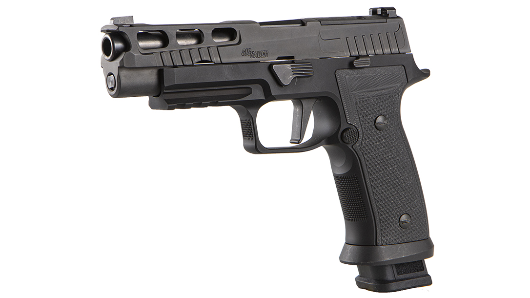 The SIG P320 AXG Pro blends a metal frame to the P320.