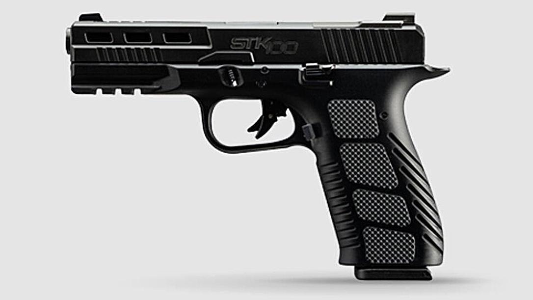 The Rock Island STK100 features an aluminum grip for better shooting.