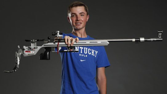 William Shaner won gold in 10-meter air rifle.