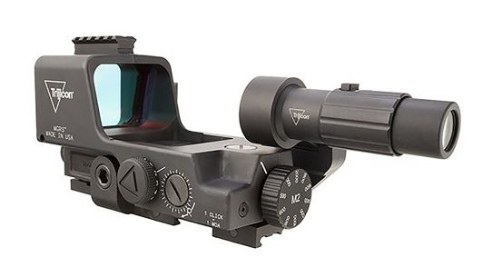 The Trijicon MGRS reflex sight was selected by the U.S. Army for machine gun use.
