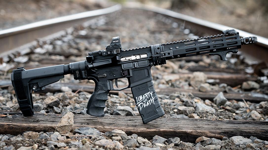 Build a Tiny Beast with this AR pistol build.