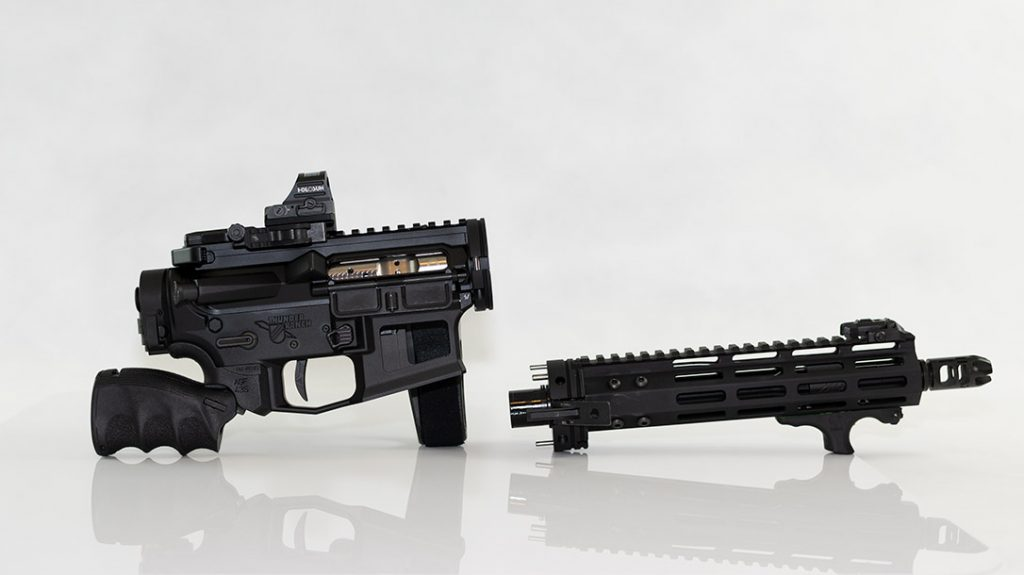 The little AR is incredibly simple to take apart and put together. It's a truly compact package that will allow you to stow and go wherever you might need it.