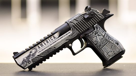 The custom Desert Eagle from Outlaw Ordnance screams Second Amendment.