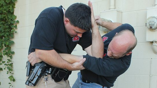 Maintaining retention of your weapon is first priority. Edged Weapon Retention adds another level of success.