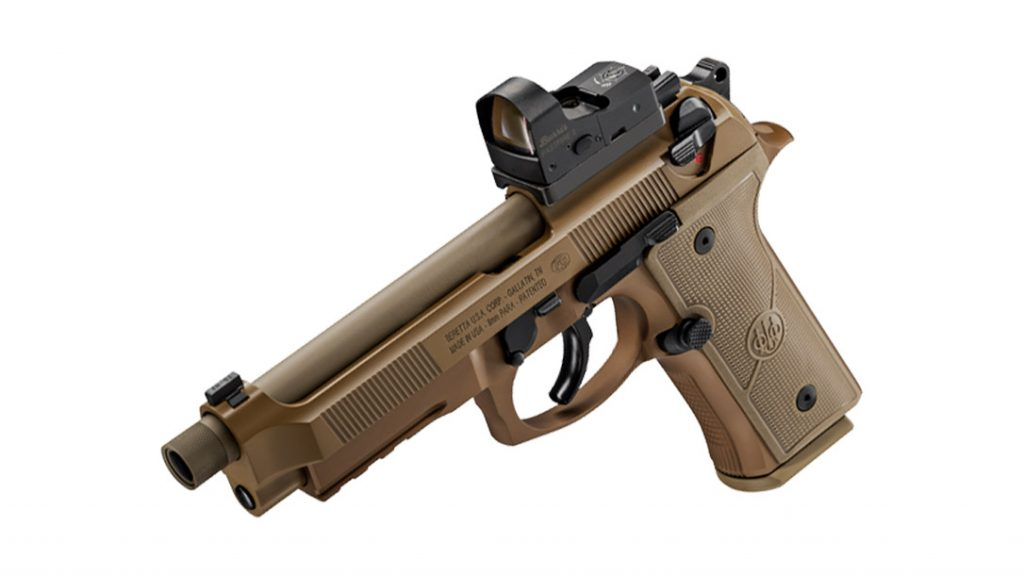 The slide on the Beretta M9A4 Full Size is red dot optics compatible.