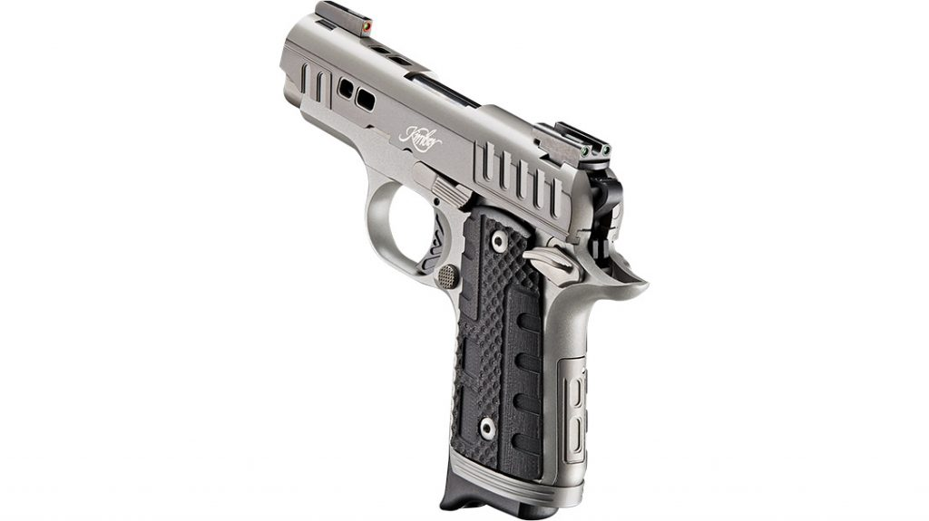 The new Rapide Black Ice's dramatic slide cuts and two-tone finish give the pistol a distinctive, eye-catching appeal.