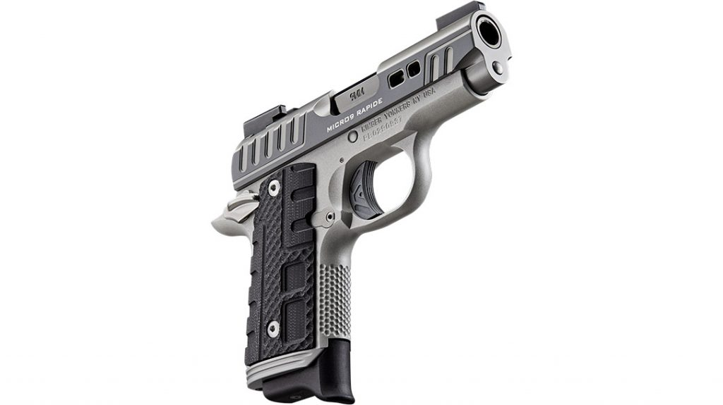 An alloy frame is used to give the Rapide Black Ice a weight of less than 1 pound. This makes it a solid choice for concealed carry.