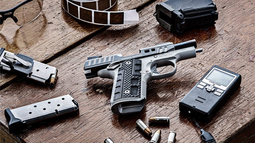The Kimber Micro 9 Rapide Black Ice is the king of the range.
