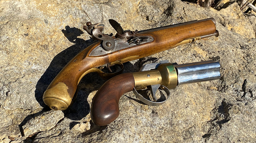 The pepperbox pistol offered more shots in a smaller package than the single-shot pistols of the time.
