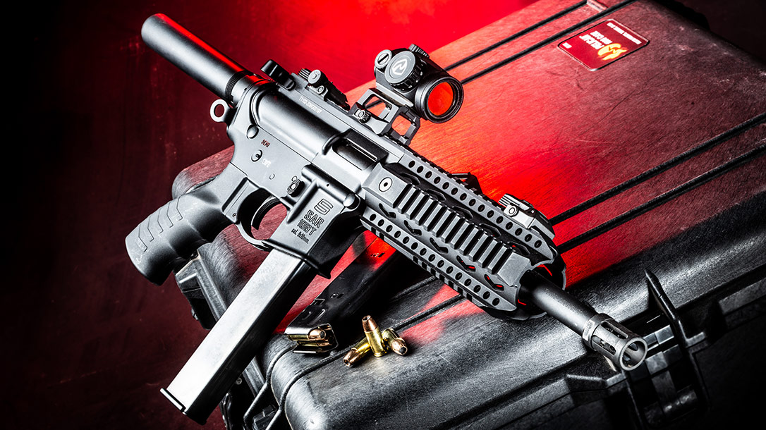 The SAR USA 109T is a Short and Sweet 9mm AR Pistol-Caliber Carbine