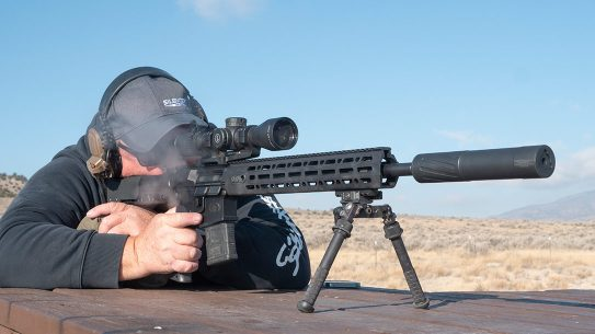 Operation on this 5.56mm AR was excellent, with minimal back pressure providing smooth operation while remaining very quiet.